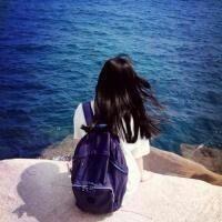 美女头像海边伤感女生背影图片